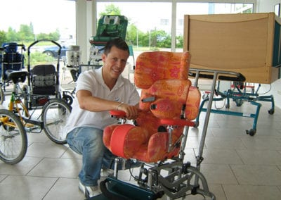 Sitzschale fertig zur Auslieferung