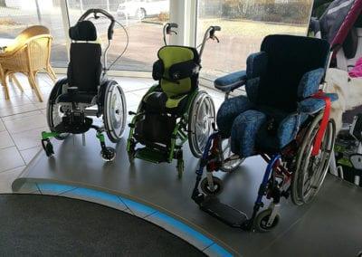 Adaptivrollstühle mit angepasster Sitzeinheit im Sonderbau